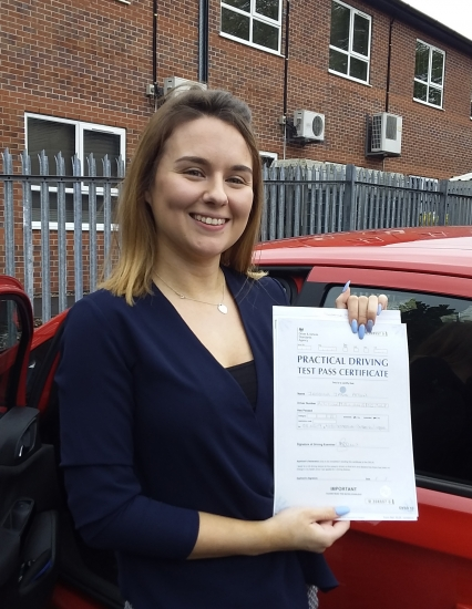 Jess Atton passed on 8/5/19 with Garry Arrowsmith! Well done!