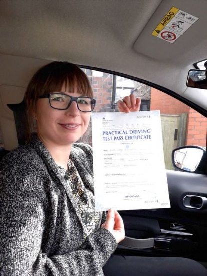 Iwona Paliwoda passed with Peter Cartwright on 19/3/19! Well done!