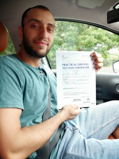 Donitru Negrut passed on 26/7/19 with Peter Cartwright! Well done!