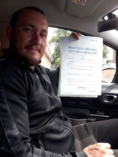 Liam Bromley passed on 6/8/18 with Peter Cartwright! Well done!