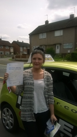 Alisha passed with Jane Barraclough on 30614 Well done