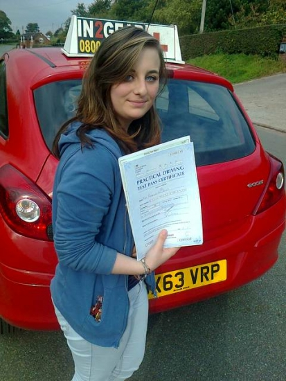 Becky passed on 161015 with Phil Hudson Well done