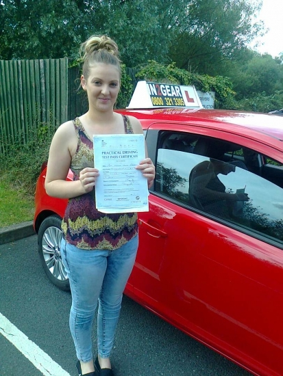 Emelia passed with Phil Hudson on 21714 Well done <br />