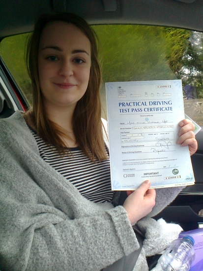 Emma passed with Phil Hudson Well done