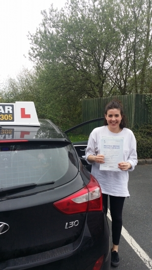 Guilia passed on 17414 Well done Guilia worked very hard on her lessons to get a test pass at the first attempt