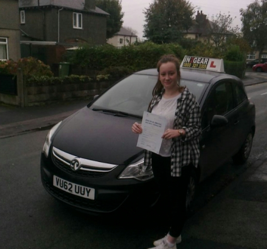 Hannah passed on 151014 with Steve Lloyd Well done