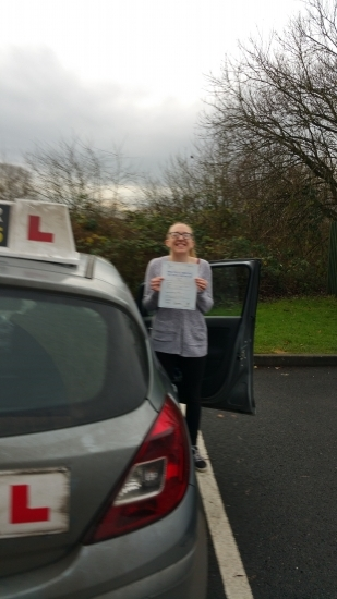 Harriet passed on 91216 Well done