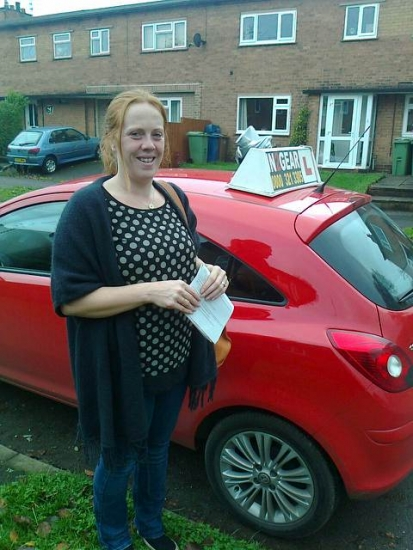 Hayley passed on 041115 with Phil Hudson Well done