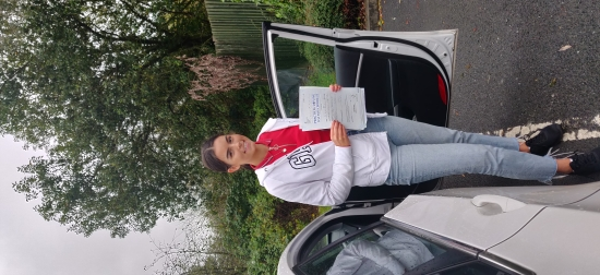 Alice passed on 7/10/19! Well done!
