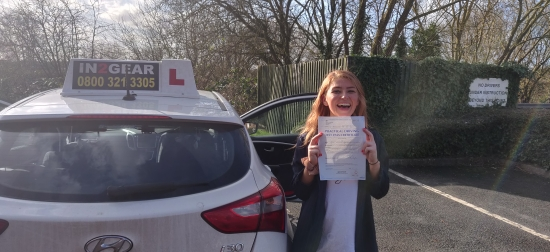 Alicia passed on 3/3/20! Well done!