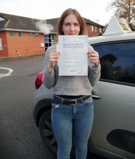 Samanta Juozaityte passed on 3/11/20 with Peter Cartwright! Well done!