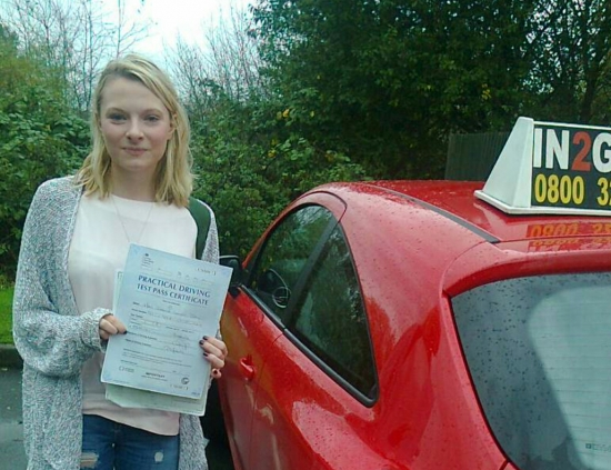 Jess passed on 171014 with Phil Hudson Well done