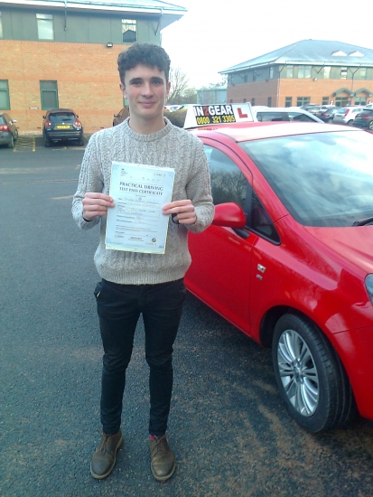 Joe passed with Phil Hudson
