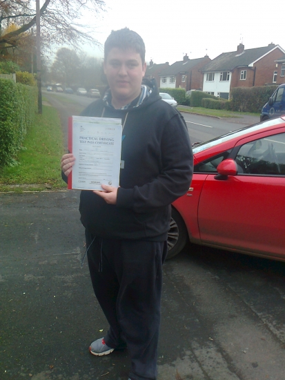 Josh passed with Phil Hudson Well done