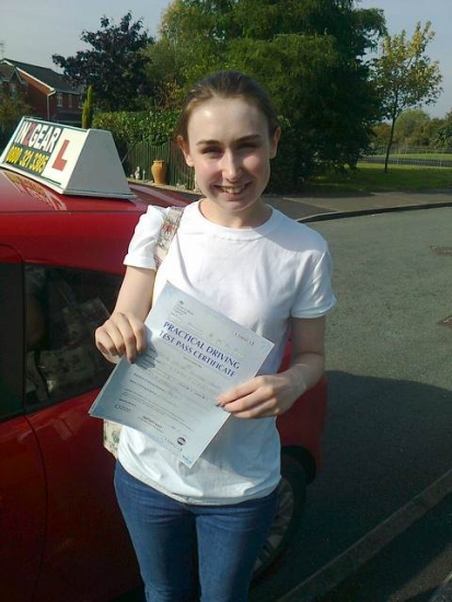 Katie passed on 29915 with Phil Hudson Well done