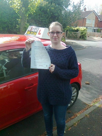 Lesley passed with Phil Hudson on 070514 Well done<br />