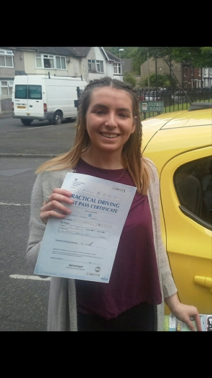 Kenzie passed on 22517 with Garry Arrowsmith Well done