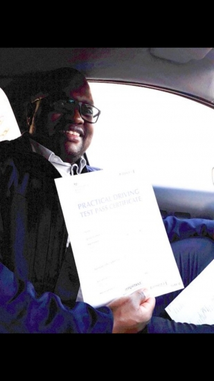 CHARLES NGANDWE passed with Zero faults at 5-01-2019 with Peter Cartwright! Well done!