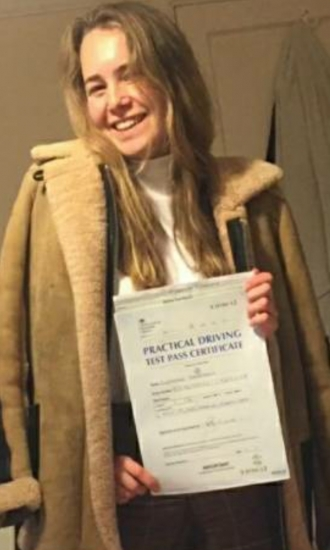 Eleanor Braddok passed on 6/11/19 with Garry Arrowsmith! Well done!