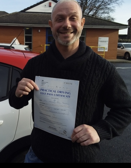 Wesley Johnson passed on 20/11/19 with Garry Arrowsmith! Well done!