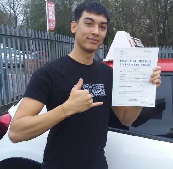 Brandon Liew passed on 21/11/19 with Garry Arrowsmith! Well done!