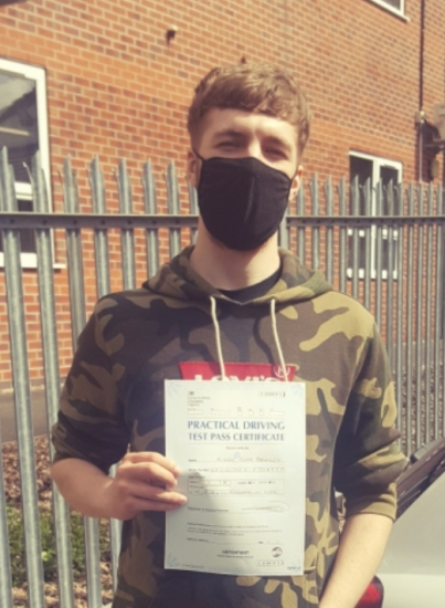 Aidan Bromley passed on 12/5/21 with Garry Arrowsmith! Well done!