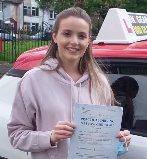 Georgia Turnock passed on 19/5/21 with Garry Arrowsmith! Well done!