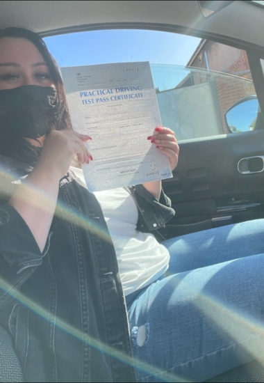 Karolina Pacek passed on 17/7/21 with Peter Cartwright! Well done!