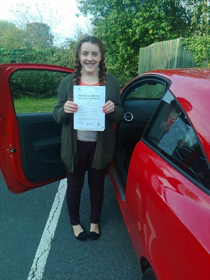 Shaylyn passed on 31014 with Phil Hudson Well done <br />
