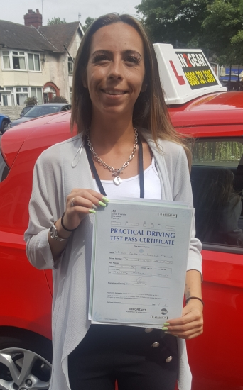 Becky passed on 17/7/19 with Garry Arrowsmith! Well done!