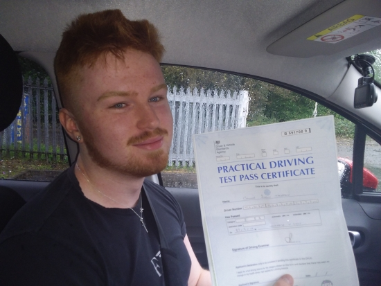 Connor Tedstone passed on 27/9/19 with Garry Arrowsmith! Well done!