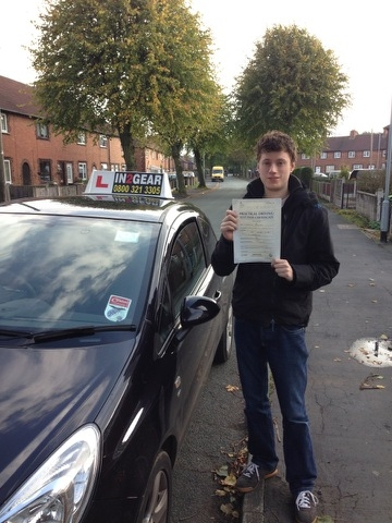 Shaun passed with Instructor Dean Farmer on 151013