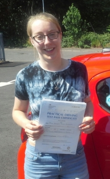 Kathryn Hodgetts passed on 26/6/18 with Garry Arrowsmith! Well done!