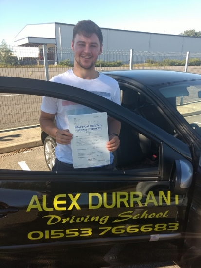 Driving Lessons Kings Lynn - Another 1st Time Pass<br /> <br /> We would like to congratulate Will Horn of Kings Lynn for passing his driving test 1st time. He passed on Thursday 27th September 2018 with only 5 driving faults after taking driving lessons with Alex Durrant Driving School. We wish Will good luck and safe driving for the future.<br /> <br /> Kind regards<br /> <br /> Alex Durrant Driving School<br /> https://www.alexd