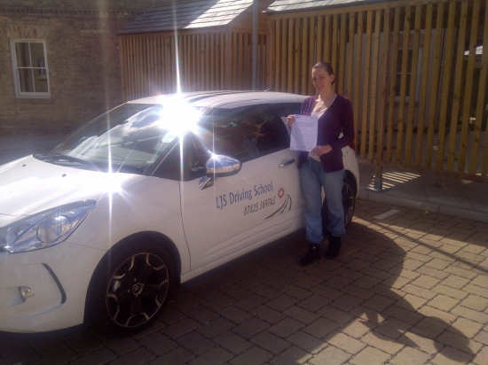 Well done Louise for passing your test with only one minor