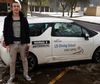 Well done David Addison for passing your Practical Driving Test today 23rd January a great drive Enjoy driving round Leeds :- Many thanks for choosing LJS Driving School for your training and safe driving from your instructor Jason Smith