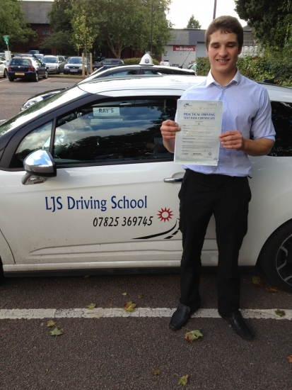 Well done Ed for Passing Your Driving Test today 27th September 1st time and with a Clean Sheet a Superb Drive :-