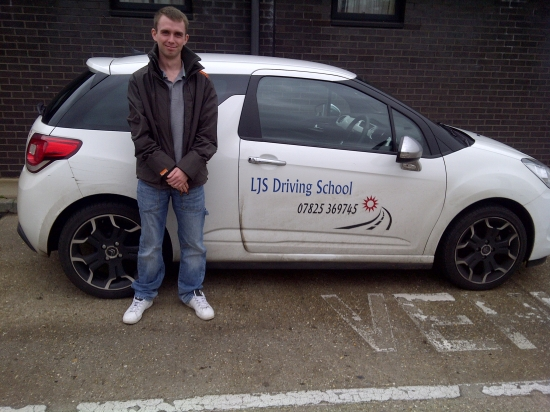 Well done for passing with a great drive