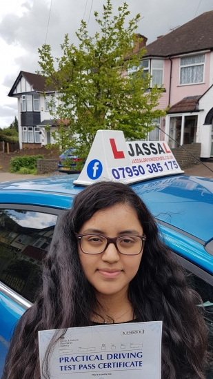 Congratulations Nicole on passing your driving test! Hayes..<br /> After being able to help pass my brother in his driving test, I was confident in Jassal´s teaching. He was able to provide me with the patience and strategies needed. Always flexible on timing, and never failed to make lessons fun and relaxed. Would highly recommend.<br /> Thank you, Nicole
