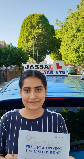 Congratulations Sandeep on passing Driving Test! Southall..<br /> Thank you so much for helping me to pass the test. So happy!!! Will also recommend to anyone. I followed all the reference points while parking, driving. I would definitely recommend Jassal driving school. thank you again