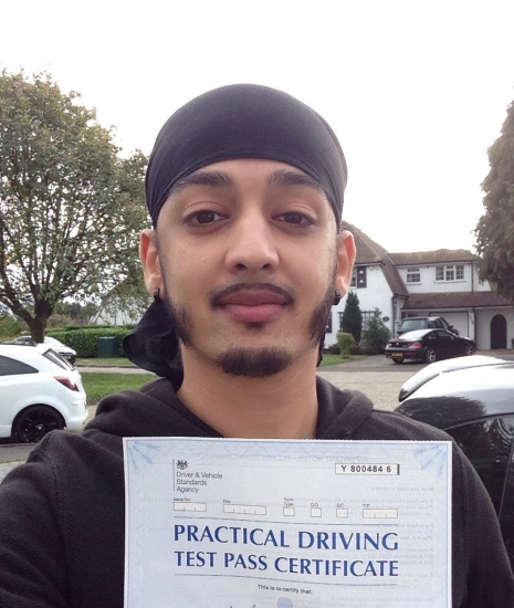 Congratulations Amar on passing your Driving Test on 1st attempt with Jassal Driving School Only 5 minors You did Great<br />