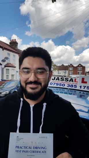 Congratulations Areeb on passing your driving test! Hayes..<br /> Well thank you for everything Sukh. You were a tremendous instructor. I would definitely recommend you as a instructor to everyone. You were patient and helped along every step of the way. Thanks for everything!