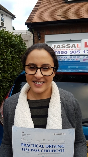 Congratulations Asma on passing driving test with ZERO faults Uxbridge <br />