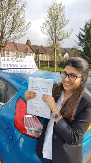 Congratulations Bushra on passing Driving Test Uxbridge