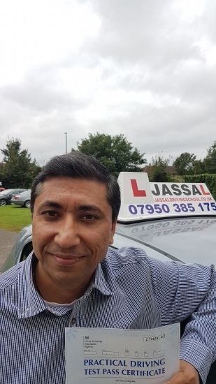 Congratulations Brijesh on passing your Driving Test on your 1st attempt Isleworth<br /> <br /> Sukh is a very good driving instructor who always give you a very constructive feedback He always make sure that you clear your exam while improving your driving skills I enjoyed every lesson and all lessons made me perfect He understands your area of improvement and work on them with you His advice and fee