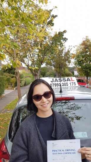 Congratulations Emma on passing Driving Test on 1st attempt Uxbridge<br />