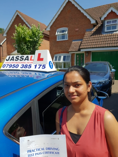Congratulations Reena on passing your test! Slough..<br />