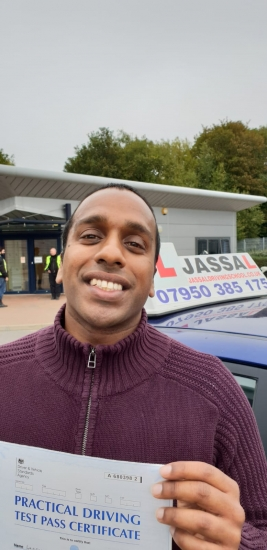 Congratulations Laki on passing on 1st attempt with Jassal Driving School! Uxbridge..<br />