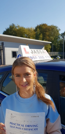 Congratulations Brittany on passing on 1st attempt with Jassal Driving School! Only 4 minors! Uxbridge..<br /> Thank you so much! I'm really pleased with how much I have learnt with you!