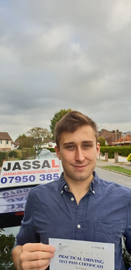Congratulations James on passing Driving Test! Only 1 minor! Slough..